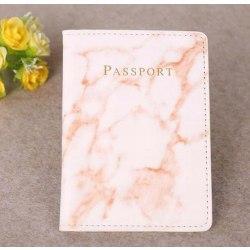 Marble passport cover Röd