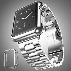 Stainless Steel Apple Watch Band + Case Silver