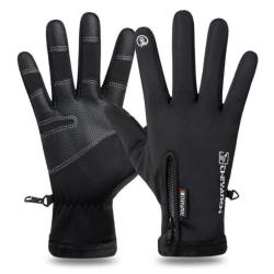 Warm Telefinger Glove - Black Black L