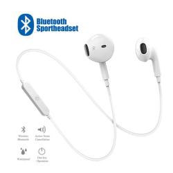Nya sport trådlösa hörlurar för iphone och samsung vit vit