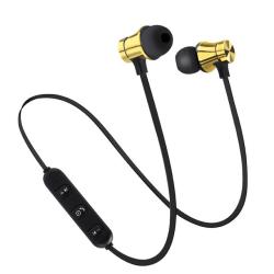 Nya Vattentäta Magnetiska trådlösa Bluetooth-hörlurar guld guld