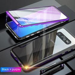 Doubel magnet fodral för iphone 11 pro max|lila