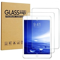 [2-pack] iPad Air / Air 2 / Pro / Ny iPad 9.7 skärmskydd 2,5D