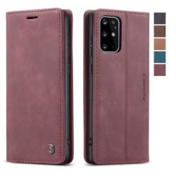 Hög kvalitet plånbok Läderfodral  för Samsung S20 plus röd