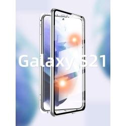 doubel case för Samsung S21 plus silver silver