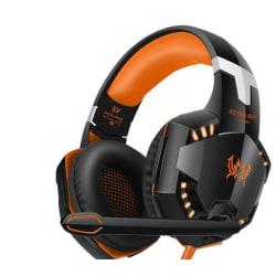 G2000 Deep Bass spel hörlurar orange orange
