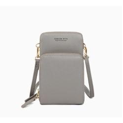 Mini Crossbody telefonväska för kvinnor grå grå