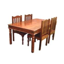 Indisk matgrupp 4 stolar med bord