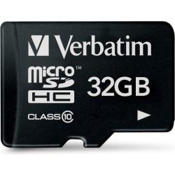 Verbatim minneskort, microSDHC Class 10, 32GB (44013)