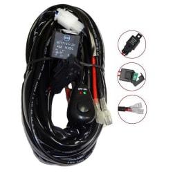 Reläkabelsats 40A med strömbrytare, för LED-ramper och extraljus