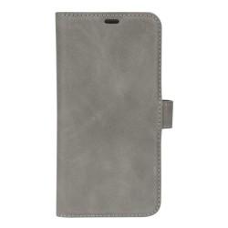 Essentials iPhone X/XS, Äkta läder, plånboksväska 3 kort, grå