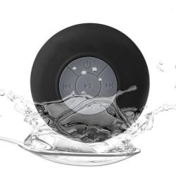 Vattentät Bluetooth-högtalare med sugpropp (Svart)