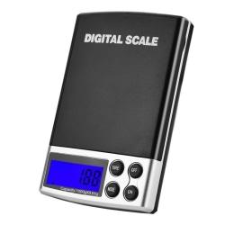 Digitalvåg i fickformat, upp till 1000 gram, bakgrundsbelyst