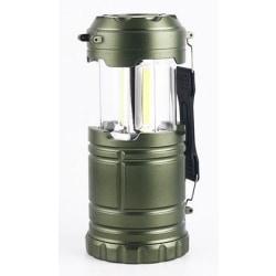 Campinglampa med LED, Grön
