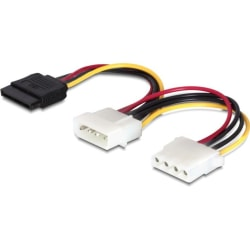 DeLOCK strömkabel för Serial ATA & ATA-133 HDD, 0,1m (60103)
