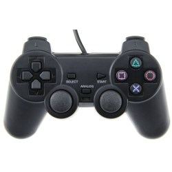 Handkontroll till Playstation 2 (Svart)