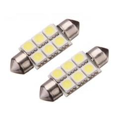 LED Spollampa, Sockel C5W, 6-LED, 36mm, (2-Pack)