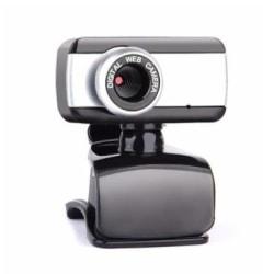Webbkamera med inbyggd mikrofon, USB 2.0, Svart/Silver