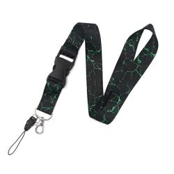 Stilsäker Praktisk Marmor Design Nyckelband Grön
