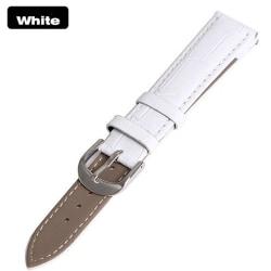 Stilsäkert Vintage-Design Klockarmband i PU-Läder Vit 18mm