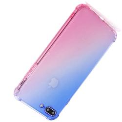 iPhone 8 Plus - Robust Silikonskal Blå/Rosa