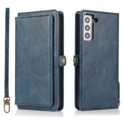 Smidigt 2-1 Plånboksfodral - Samsung Galaxy S21 Plus Mörkblå