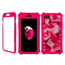 Exklusivt Stötsäkert Fodral - iPhone 8 Kamouflage Rosa