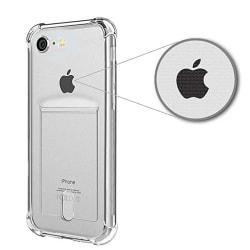 Silikonskal med Korthållare - iPhone SE 2020 Transparent/Genomskinlig