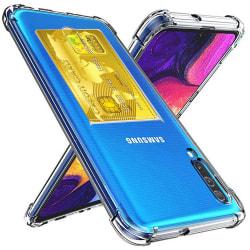 Skyddande Skal med Kortfack - Samsung Galaxy A50 Transparent/Genomskinlig