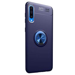 Genomtänkt Skal med Ringhållare - Samsung Galaxy A70 Blå/Blå
