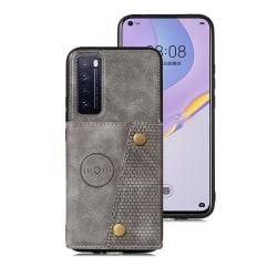 Smidigt Skal med Kortfack - Huawei P Smart 2021 Grå