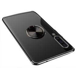 Samsung Galaxy A50 - Skal med Ringhållare Svart