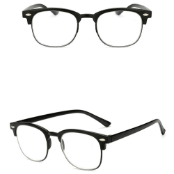 Stilrena Läsglasögon med Styrka +1.0-+4.0 Svart +1.0