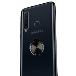 Stötdämpande Floveme Skal Ringhållare - Samsung Galaxy A9 2018 Svart