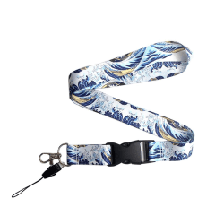 Vågor Kanagawa Nyckelband Blå
