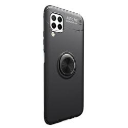 Stilsäkert Smidigt Skal med Ringhållare - Samsung Galaxy A12 Svart