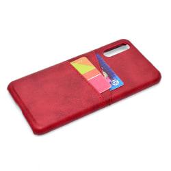 Samsung Galaxy A50 - Skal med Korthållare (SUTENI) Röd