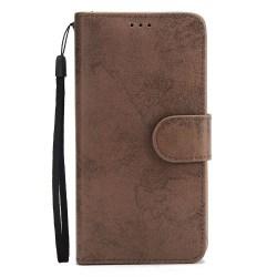 Genomtänkt Plånboksfodral från LEMAN för Samsung Galaxy S9+ Brun