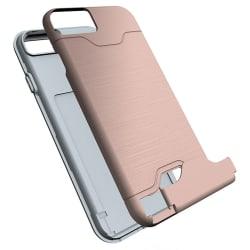 Stilrent Skal med Kortfack (JENSEN) - iPhone 8 Roséguld
