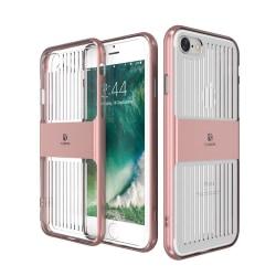 iPhone 8 Plus - Elegant Smart Skal med stötdämpning från FLOVEME Marinblå