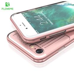 iPhone 8 plus - FLOVEME Exklusiva Stötdämpning Skal (MAX SKYDD) Marinblå