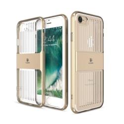 iPhone 8 plus - Exklusivt Elegant Smart Hybridskal av FLOVEME Marinblå