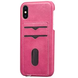 iPhone XR - Skal med Kortfack Rosaröd