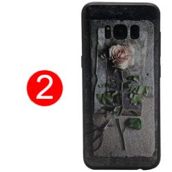 LEMAN Skal med Blom-motiv för Samsung Galaxy S8 Plus 2
