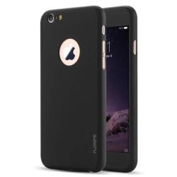 Praktiskt Skyddsfodral för iPhone 7 PLUS (Fram och bak) SVART Svart