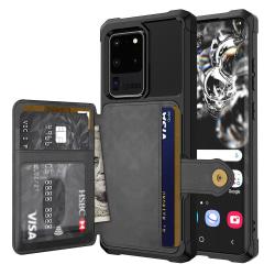 Professionellt Skal med Korthållare - Samsung Galaxy S20 Ultra Svart
