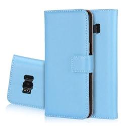 LEMAN Stilrent Plånboksfodral för Samsung Galaxy S6 Edge - Blå
