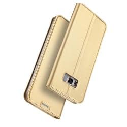 Stilrent Fodral med Kortfack av DUX DUCIS för Samsung Galaxy S8 Guld