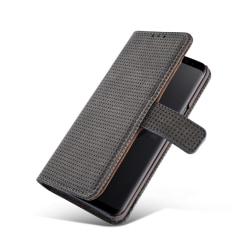 Genomtänkt och Elegant Fodral i Retro-Design Samsung Galaxy S9+ Gråsvart