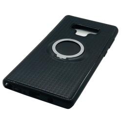 Silikonskal i Carbonfinish (Ringhållare) Samsung Galaxy Note 9 Blå
